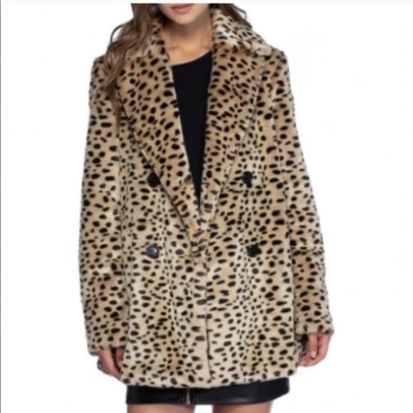 Avec Les Filles Jackets & Blazers - 🎄NWT <Avec Les Filles> Faux Leopard Oversize Coat